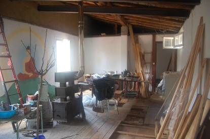The room you had to work in.  Fell through the ceiling (the floor of that crawl space).