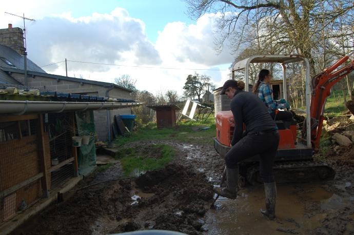 Dig, dig, dig through the mud!